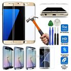 For Samsung Galaxy S6/S7 Edge + Maximum Cover Tempered Glass Screen Protector+ Tool