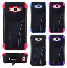 For Samsung Galaxy J7 Advanced HYBRID KICKSTAND Case Phone Cover + Screen Guard