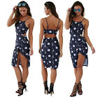 Sexy Women Printed Bandage Cocktail Sleeveless Bodycon Evening Party Dress NEW