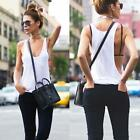 Fashion Womens Casual Shirt Sexy Sleeveless Loose Vest Tank Tops Blouse T-shirt