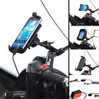 Scooter Mirror Stem 8-10mm Mount + Universal One Holder for Samsung Galaxy J5 J7