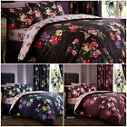 Floral Printed Bedding Set with Pillowcase – Reversible Design in Bold Colours