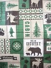 Asstd Sizes Bear Moose Lodge Country Cabin Camp Vinyl Tablecloth FREE SHIPPING