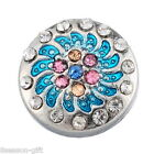 Gift Wholesale Snap Button Fit Snap Bracelet Colorful Rhinestone Windmill 12mm