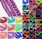 Wholesale Crystal Glass Rondelle Faceted Loose Spacer Beads 4mm 6mm 8mm 10mm