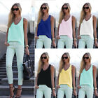 Fashion Women's Summer Vest Chiffon Sleeveless Blouse Casual Tank Tops Shirt Tee