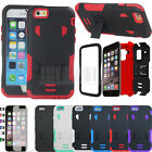 For Apple iPhone 6 6S SHOCKPROOF Case Hybrid Hard Armor Stand Tough Rugged Cover