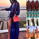 Tie Dye Colorful Sheer Long Maxi Dress KIMONO Cardigan Shirt Blouse Beach S-XXL