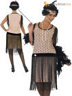 Ladies 1920's Coco Flapper Costume Adult Charleston Gatsby Fancy Dress UK 8 - 18