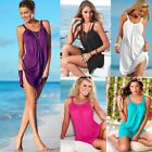 Women's Summer Casual Sleeveless Evening Party Beach Dress Short Mini Dress Tops