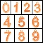 15x10mm Copper Plated Number Charm Beads 2pcs, pick your numbers 0-9