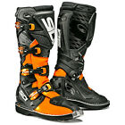 NEW SIDI X3 MX DIRTBIKE OFFROAD MOTOCROSS BOOTS BLACK/FLO ORANGE ALL SIZES