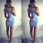 Womens #B Sleeveless Party Evening Cocktail Summer Beach Boho Short Mini Dress