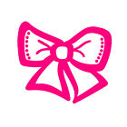 Bow Tie Car Window Decor girl Vinyl Decal Sticker for Laptop Bumper Wall Party