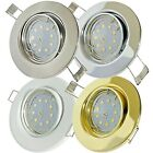 1- 10er Sets SMD Einbauleuchte Tomas / 230V / 5W Power LED / EEK A+ / Loch= 68mm