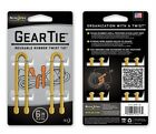 "Nite Ize Gear Tie 4 Pack 6"" inch Choice of Color New Carded Reusable"