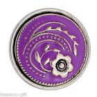 Gift Wholesale Big Snap Button Fit  Bracelet Pendant Flower Enamel 29mm