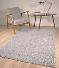 SMALL X LARGE SIZE THICK PLAIN GREY SILVER SOFT SHAGGY RUG NON SHED 5cm PILE