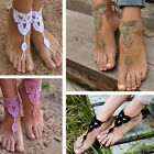 Fashion Bridal Anklet Foot Bracelet Crochet Barefoot Sandals Beach Wedding Party
