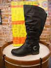 Bare Traps Sheridan Black Ruched Riding Boot Wide Calf NEW