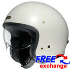 Shoie J.O. Off Open Face Classic Motorbike Motorcycle Crash Retro Helmet White