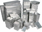 Silver Foil Cotton Filled Gift Boxes Jewelry Cardboard Box Lots of 12~25~50~100