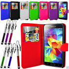 Leather Wallet Flip Mobile Phone Case For Samsung Galaxy S5 Neo Retractable Pen