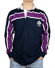 Great Gift: Mens Rugby Nations Scotland Rugby Shirt Purple Stripe Thistle