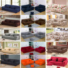 Modern 15 Styles Plush / Poly Stretch Fabric Sofa Couch Cover For 1 2 3 4 Seater
