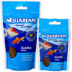 AQUARIAN GOLDFISH PELLET SINKING FLOATING MIX FISH FOOD COLDWATER TANK AQUARIUM