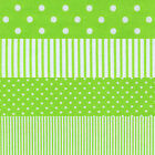 LIME GREEN SPOTS & STRIPES 4 TO CHOOSE FROM CRAFT QUILT FABRIC Free Oz Post