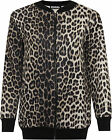 Womens Plus Animal Leopard Print Bomber Jacket Ladies Long Sleeve Zip Top 14-28