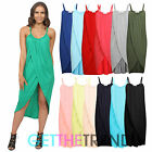 WOMENS NEW SUMMER WRAPOVER FRONT CELEB STYLE DRESS LADIES STRAPPY MIDI DRESS