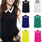 Sexy Elegant Ladies Summer Chiffon Sleeveless Tee T-Shirt Vest Tank Top