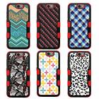 For Moto G4 Plus NATURAL TUFF Hybrid Rubber Hard Case Red Black 7Colors