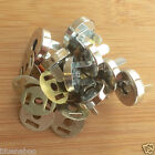 magnetic bag clasps/ fasteners silver coloured 14mm & 18mm per 5 fasteners