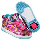 Heelys Flash 2.0 High Top Shoes - Snake Pink Metallic +Free Delivery+ DVD