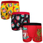 Liverpool FC Official Football Gift 3 Pack Boys Crest Boxer Shorts