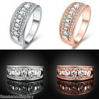 1PC Women Lady New Simple Crystal Auger Ring Jewelry Wedding Gift Size 8