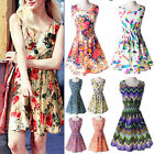New Ladies Summer Casual Floral Print Sleeveless Chiffon Evening 4561232