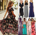 Women Boho Summer Long Maxi Beach Dresses Party Evening Cocktail Wedding Dress A