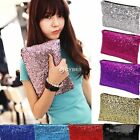 New Shiny Sequins Wallet Girl Evening Party Clutch Bag Glitter Sparkling D