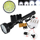 táctica 32000lm XM-L 24x T6 LED Flashlight  Light LINTERNA  4x18650 Lamp Charger