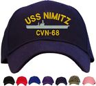 USS Nimitz CVN-68 Embroidered Baseball Cap - Available in 7 Colors - Hat