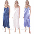 New Ladies Luxury Long Chemise Waites Lingerie 5065 Size S M L Navy Cream Blue