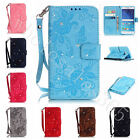 New Bling Diamond PU Leather With Wrist Strap Wallet Case Cover For Mobile Phone