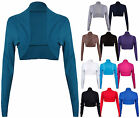 NEW LADIES LONG SLEEVE BOLERO WOMENS CARDIGAN SHRUG TOP