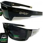 "New Mens Hardcore Designer Wrap UV400 ""Dark Black Lens"" black Sunglasses SE05"