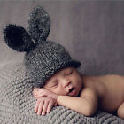 Newborn Infant Baby Girls Boys Warm Crochet Knit Rabbit Ear Hat Photography Prop