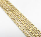"18-24"" 2mm 10k Yellow Gold Tight Mariner Anchor Curb Lite Chain Necklace Mens"